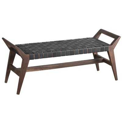 Stagg Leather Bench - Wayfair