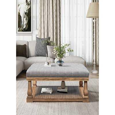 Thatcham Floor Shelf Coffee Table with Storage - Wayfair