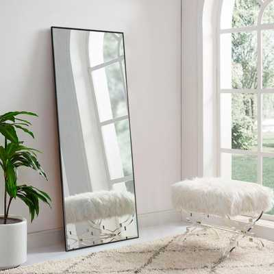 SUZHOU 703 NETWORK TECHN Modern Metal Large Full-length Floor Mirror Leaning or Hanging In Living Room - Home Depot