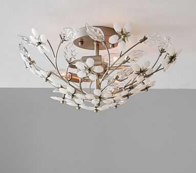 Grace White Flower Flushmount - Pottery Barn Kids