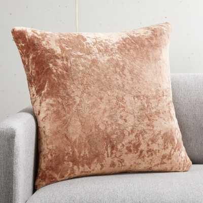 "20"" Strauss Copper Pillow with Down-Alternative Insert - CB2"