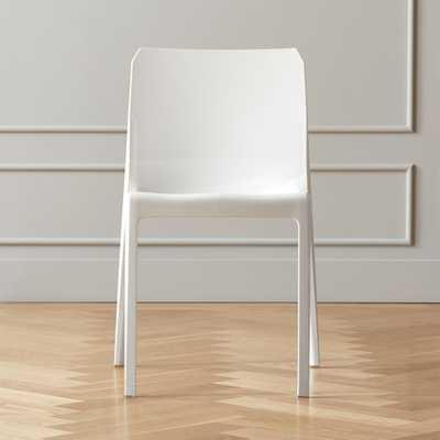 Bolla White Dining Chair - CB2