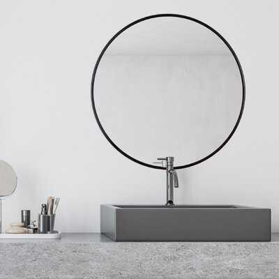 Adelina Black Circular Mirror - Wayfair