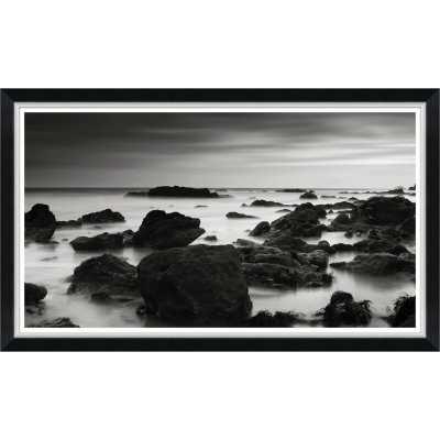 Soicher Marin Finn & Ivy 'Black and White Rocks in the Sea II' Framed Graphic Art Print - Perigold