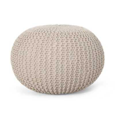 Giraldo Mabery Knitted Pouf - Wayfair