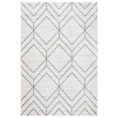 Jain Geometric Light Gray Area Rug - Wayfair