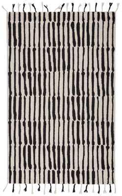 Tiana Rug, 5'x8', Black - Studio Marcette