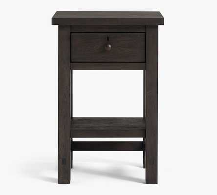 Farmhouse Mini Nightstand, Charcoal - Pottery Barn