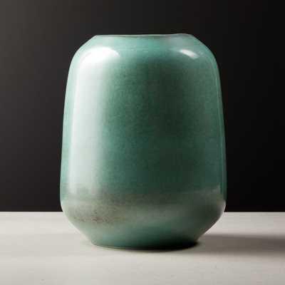 Circa Metallic Aqua Vase - CB2