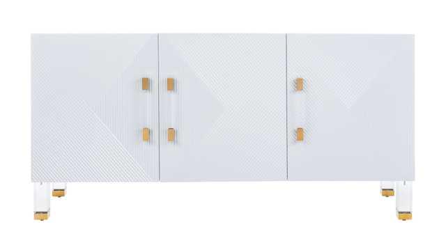 Poppy 3 Door Sideboard - Grey/Gold - Arlo Home - Arlo Home