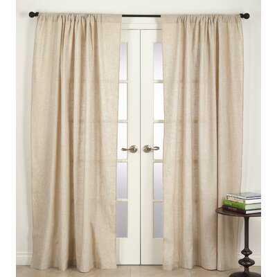 Parthenia Solid Semi-Sheer Rod Pocket Single Curtain Panel - Birch Lane