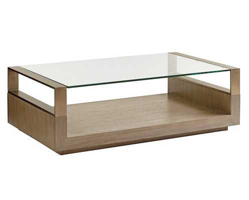 Lexington Shadow Play Floor Shelf Coffee Table with Storage - Perigold