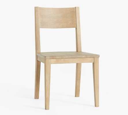 Menlo Wood Dining Chair, Fog - Pottery Barn