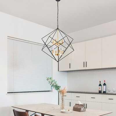Dinkins 8 - Light Lantern Geometric Chandelier - Wayfair