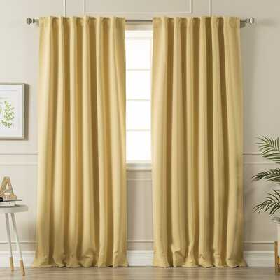 Sweetwater Blackout Solid Thermal Curtain Panels - Birch Lane