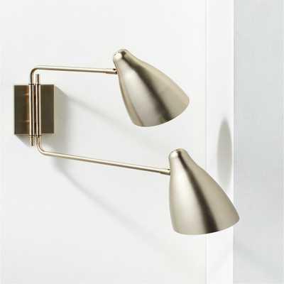 Deuce Brass Double Wall Sconce - CB2