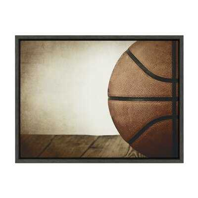 'Vintage Half Basketball' by Shawn St.Peter- Floater Frame Photograph Print on Canvas - Wayfair