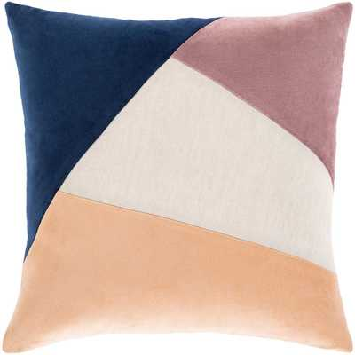 Artistic Weavers Yusri Peach/Multi-Color 20 in. x 20 in. Down Throw Pillow, Peach/Navy/Eggplant - Home Depot