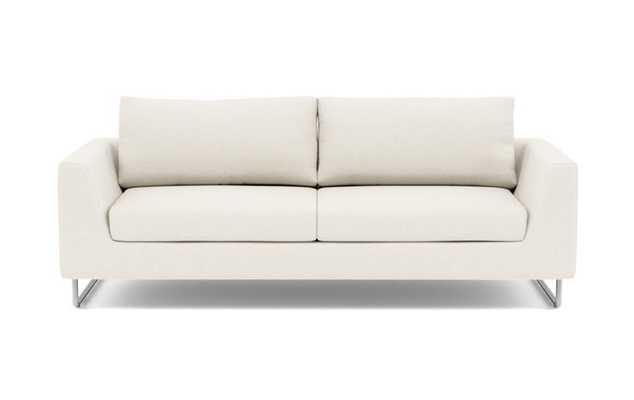 Asher Sofa with White Cirrus Fabric and Matte Indigo legs - Interior Define