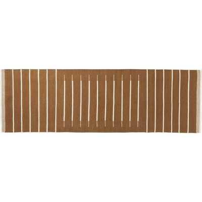 Copper with White Stripe Runner 2.5'x8' - CB2