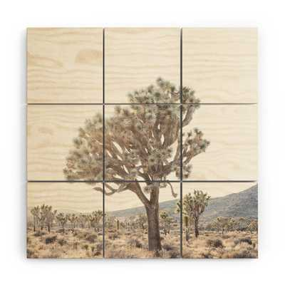 "Desert Light by Bree Madden - Wood Wall Mural3' X 3' (Nine 12"" Wood Squares) - Wander Print Co."