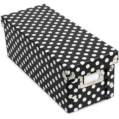 Polka Dot Cardboard Box - Wayfair