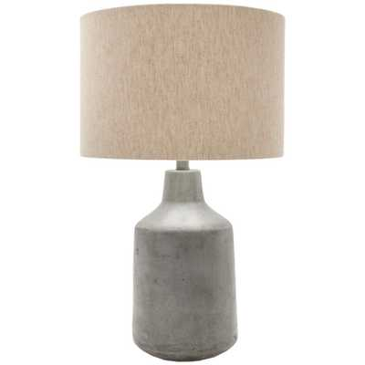 SURYA CARPET Jasiah 25 in. Medium Gray Indoor Table Lamp - Home Depot