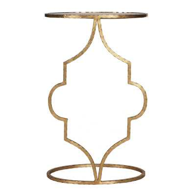 Worlds Away Hammered Cigar End Table Color: Gold - Perigold