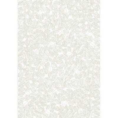 """Kimmie Leaf 33' x 21"""" Smooth Wallpaper Roll - AllModern"""