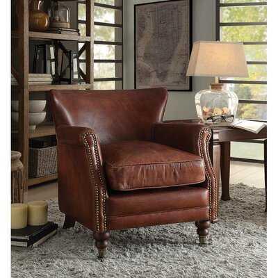 "Retta 24"" W Genuine Leather Top Grain Leather Club Chair - Wayfair"