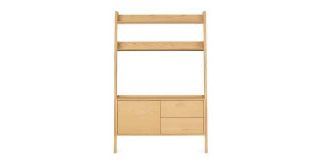 Fantol Oak Storage Shelf - Article