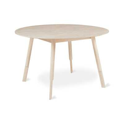 Gus* Modern Bracket Round Solid Wood Dining Table Base Color: White Wash, Top Color: White Wash - Perigold