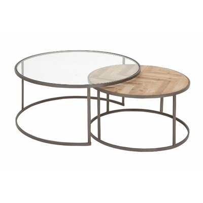 Orkney Contemporary 2 Piece Coffee Table Set - AllModern