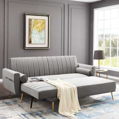 Markey 118.11'' Velvet Right Hand Facing Sleeper Sofa & Chaise - Wayfair