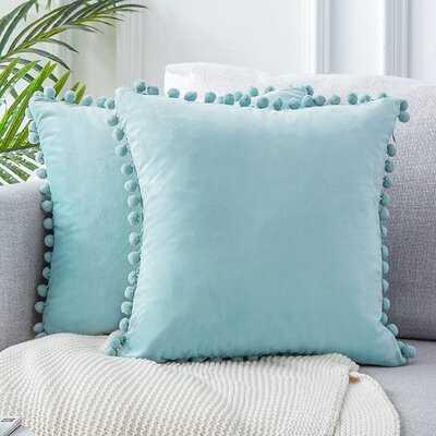 Square Velvet Pillow Cover (Set of 2) - Wayfair