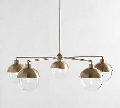 Rory Glass Chandelier, Antique Brass - Pottery Barn