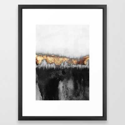 Gloomy Framed Art Print by Elisabeth Fredriksson - Vector Black - MEDIUM (Gallery)-20x26 - Society6