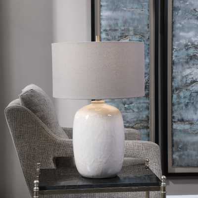 Winterscape White Glaze Table Lamp - Hudsonhill Foundry