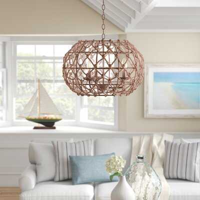 Cadwell 3-Light Unique / Statement Globe Chandelier - Wayfair