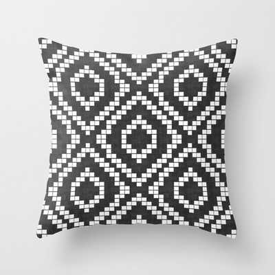 """Panja In Black And White Couch Throw Pillow by Becky Bailey - Cover (24"""" x 24"""") with pillow insert - Indoor Pillow - Society6"""