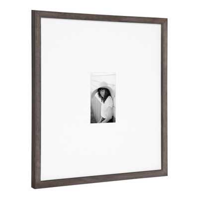 DesignOvation Gallery 17 in. x 17 in. matted to 4 in. x 6 in. Gray Picture Frame - Home Depot