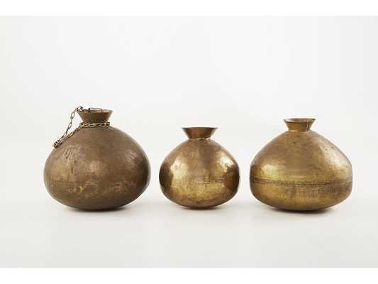 """Outpost Original Brass Copper Jar Size: 15"""" H x 13"""" W x 13"""" D - Perigold"""