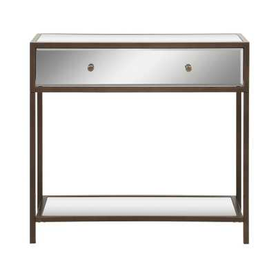 OSP Home Furnishings Marquis Mirror Foyer Table, Mirrored and Metal Finish - Home Depot