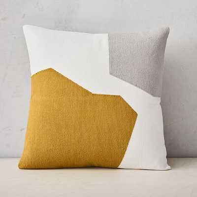 "Corded Minimalist Geo Pillow Cover, 20""x20"", Dark Horseradish - West Elm"