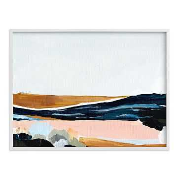 """Sandpit, Full Bleed 40""""x30"""", White Wood Frame - West Elm"""