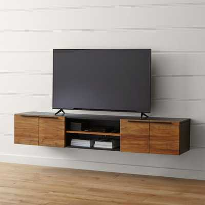 "Rigby Natural 80.5"" Large Floating Media Console - Crate and Barrel"