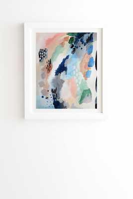 "Seasons Abstract by Laura Fedorowicz - Framed Wall Art Basic White 19"" x 22.4"" - Wander Print Co."