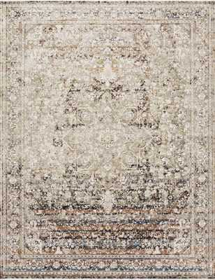 "Loloi Theia THE-05 Taupe / Brick 9'-5"" x 12'-10"" - Loma Threads"