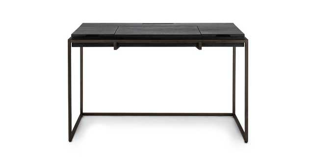Oscuro Black and Dark Bronze Desk - Article