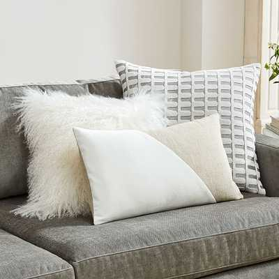 Color Crush Pillow Set - Stone White - West Elm